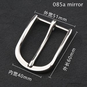 Solid stainless steel material men leather belt pin buckle luxury design inner width 40mm 3pcs/lot
