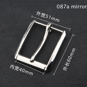 Solid stainlesss steel men belt pin buckle leather craft quality metal hardware accessories inner width 40mm 3pcs/lot
