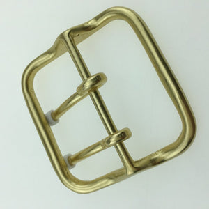 DIY leather craft double pin belt buckle big size 62mm inner width solid brass material 2pcs/lot
