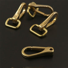 将图片加载到图库查看器,DIY leather craft brass belt buckle bag flat ring clip accessories 3pcs/lot