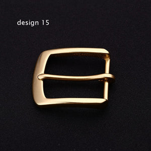 DIY leather craft inner 40mm solid brass belt pin buckle 5pcs/lot