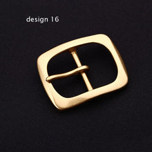 Load image into Gallery viewer, DIY leather craft inner 40mm solid brass belt pin buckle 5pcs/lot