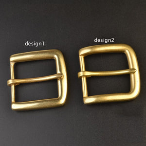 DIY leather craft 40mm inner width solid brass belt pin buckle 2 design 3pcs/lot
