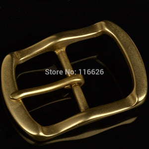 DIY leather craft belt tri-glide pin buckle curve edge design 2pcs/lot inner 40mm
