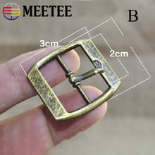 Load image into Gallery viewer, Meetee 5/10pcs ID20mm Metal Pin Bronze Buckle Adjustment Straps Button Handbag Luggage Leather Crafts Hardware Accessories BF502