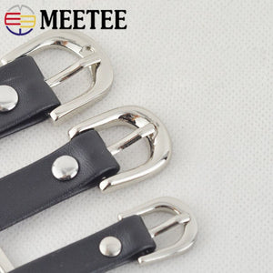 4/10pc Meetee Handbag Shoes Strap Belt Metal Pin Buckles 11/15/20mm Slider Web Adjuster DIY Leather Craft Repair Accessory F3-25