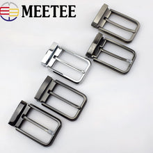 将图片加载到图库查看器,Meetee High quality 35mm Men's Metal Belt Buckle Pin Clip Cowboy Jeans  Head for 33-34mm  DIY LeatherCraft Supply AP2763