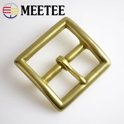 Meetee High quality 35mm Men's Metal Belt Buckle Pin Clip Cowboy Jeans  Head for 33-34mm  DIY LeatherCraft Supply AP2763