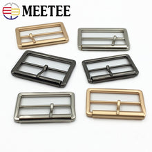 Load image into Gallery viewer, Meetee 4/10pcs 40/50mm Metal Tri-Glide Pin Buckles for Bags Shoes Strap Adjust Roller Belt Buckle DIY Webbing Leather Accessory