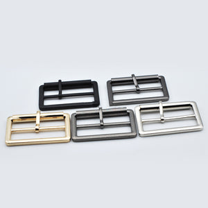 Meetee 4/10pcs 40/50mm Metal Tri-Glide Pin Buckles for Bags Shoes Strap Adjust Roller Belt Buckle DIY Webbing Leather Accessory