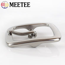Load image into Gallery viewer, Meetee 1pc 40mm Stainless Steel Single Double Pin Buckles Men's Belt Buckle Head DIY High Quality Hardware Leather Accessories