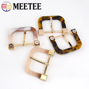 2/4pcs 34mm Resin Metal Belt Buckle Women Coat Decorative Pin Buckles Scarf Windcoat Garment Button DIY Sewing Accessories