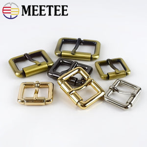 Meetee 5/10pcs 20-32mm Square D Ring Pin Buckles DIY Leather Belt Strap Adjustable Roller Buckle DIY Hardware Supplies Accessory