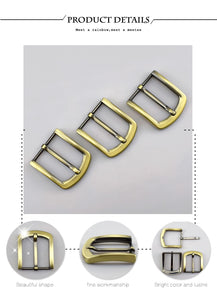 2/5pcs Meetee 40mm Metal Antique Brass Pin Belt Buckles for Men Belts Adjustable Buckle DIY Leather Craft Accessories F1-81