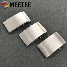 将图片加载到图库查看器,Meetee 1pc 35/38mm Pure Titanium Belt Buckles Anti-allergy Toothless Roller Automatic Buckle Belts Head Clasp DIY Leather Craft
