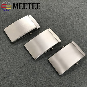 Meetee 1pc 35/38mm Pure Titanium Belt Buckles Anti-allergy Toothless Roller Automatic Buckle Belts Head Clasp DIY Leather Craft