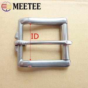Meetee 1pc/2pcs 17/20/26/34/38mm Stainless Steel Belt Buckle Head Bag Strap Adjust Pin Buckles DIY Luggage Hardware Accessories