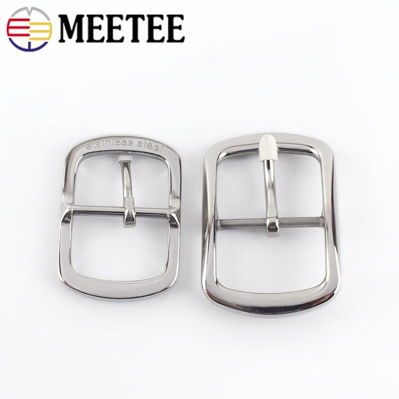 1Pc Meetee 35mm 40mm High Quality Men Stainless Steel Belts Buckles Metal Pin Belt Buckle DIY Leathercraft Jeans Accessories