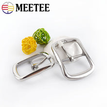 Load image into Gallery viewer, 1Pc Meetee 35mm 40mm High Quality Men Stainless Steel Belts Buckles Metal Pin Belt Buckle DIY Leathercraft Jeans Accessories