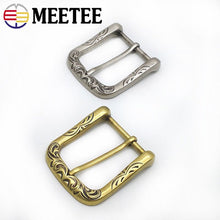 Load image into Gallery viewer, Meetee 2/5pcs 40mm Retro Belt Buckle Metal Pin Buckles Head DIY Leathercrafts Belts Clasp Decoration Accessories YK413