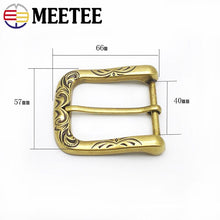将图片加载到图库查看器,Meetee 2/5pcs 40mm Retro Belt Buckle Metal Pin Buckles Head DIY Leathercrafts Belts Clasp Decoration Accessories YK413