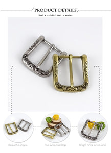 Meetee 2/5pcs 40mm Retro Belt Buckle Metal Pin Buckles Head DIY Leathercrafts Belts Clasp Decoration Accessories YK413