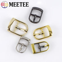 Load image into Gallery viewer, Meetee 5/10pcs 13/16/20/25mm Metal Pin Belt Buckles Adjuster Bags Strap Slider Shoes Buckle DIY Leather Hardware Accessories