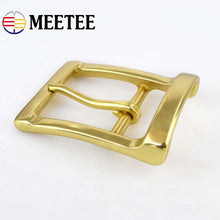 Load image into Gallery viewer, Meetee 40mm Width Men pure brass belt buckle head needle pants copper lead DIY Belt Buckles Leather accessories for 38-39mm Belt