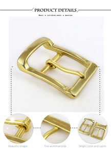 Meetee 40mm Width Men pure brass belt buckle head needle pants copper lead DIY Belt Buckles Leather accessories for 38-39mm Belt