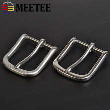 将图片加载到图库查看器,Meetee 1pc/2pcs 35mm Metal Stainless Steel Belt Buckle Pants Belts Pin Buckles Head DIY Trousers Band Leather Accessories YK401