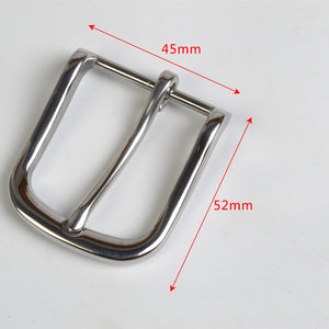Meetee 1pc/2pcs 35mm Metal Stainless Steel Belt Buckle Pants Belts Pin Buckles Head DIY Trousers Band Leather Accessories YK401
