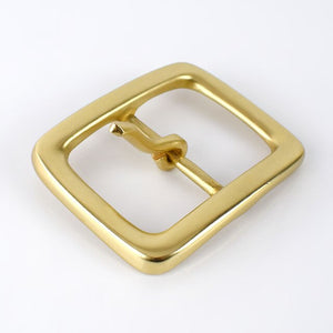 Meetee 40mm Soild Brass Belt Buckles Pure Copper Metal Pin Buckles for Men Jeans Belt Decor DIY Leather Craft Hardware