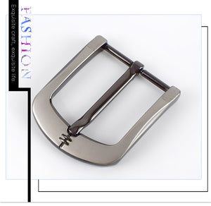 Meetee 1/2pcs DIY Leather Craft 40mm Metal Pin Buckle Belt Buckle Brushed Alloy Men's Cowboy Jeans Belt Hardware Accessories