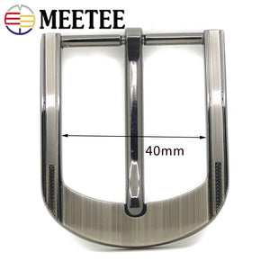 1/2pcs Men Solid Metal Belt Buckles for Belts 37-38mm Rectangle Pin Buckle Waistband Head DIY Leather Craft YK196