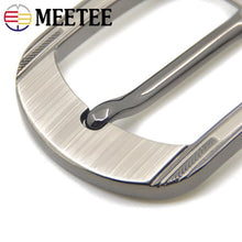 将图片加载到图库查看器,1/2pcs Men Solid Metal Belt Buckles for Belts 37-38mm Rectangle Pin Buckle Waistband Head DIY Leather Craft YK196