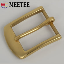 Load image into Gallery viewer, Meetee 36mm Solid Brass Pin Belt Buckle Men's Women's Garment Waist  DIY Handmade Clothing Hardware Accessories AP609