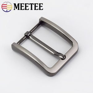 2/5Pc Meetee 40mm Belt Buckle Men Fashion Metal Pin Buckles for 38-39mm Waistband Belts Head DIY Leather Craft Accessories KY917