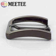 将图片加载到图库查看器,2/5Pc Meetee 40mm Belt Buckle Men Fashion Metal Pin Buckles for 38-39mm Waistband Belts Head DIY Leather Craft Accessories KY917