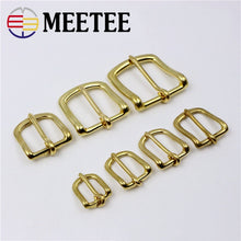 将图片加载到图库查看器,2PCS Meetee New Solid Brass Belt Buckle Copper Men Pin Buckles DIY Mens Womens Jeans Luggage Hardware Accessories AP011