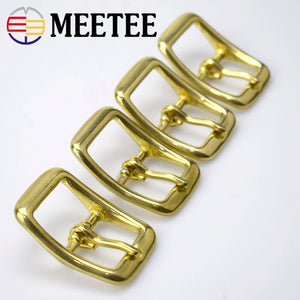 2pcs Meetee 13/16/20/25mm Pure Copper Brass Pin Belt Adjustment Buckles Bag Luggage Webbing Collar Diy Leather Accessories F1-38