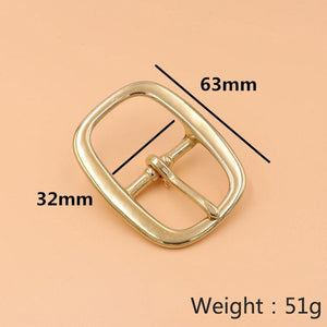 Meetee 1pc/2pcs 16-38mm Pure Brass Belt Buckles Oval Copper Pin Buckle Head DIY Bags Strap Adjust Decor Clasp Accessories YK091
