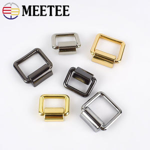 Meetee 4pcs 16/19mm Metal Bag Side D Ring Clip Hang Buckle Bags Shoulder Strap Chain Link Buckles DIY Luggage Hardware Accessory