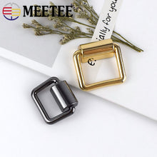 Load image into Gallery viewer, Meetee 4pcs 16/19mm Metal Bag Side D Ring Clip Hang Buckle Bags Shoulder Strap Chain Link Buckles DIY Luggage Hardware Accessory
