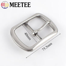 将图片加载到图库查看器,Meetee 40mm Stainless Steel Belt Buckle DIY Metal Accessories for Jeans Belts Clothing Sewing Leather Craft Hardware BD253