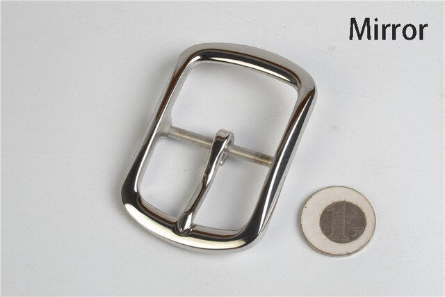 Meetee 40mm Stainless Steel Belt Buckle DIY Metal Accessories for Jeans Belts Clothing Sewing Leather Craft Hardware BD253