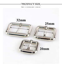 Load image into Gallery viewer, 4/8pcs 20/25/32/38MM Pin Belt Buckle Metal Handbags Bags Hardware Strap Adjust Hook Buckle DIY Sew Crafts Accessories F3-22