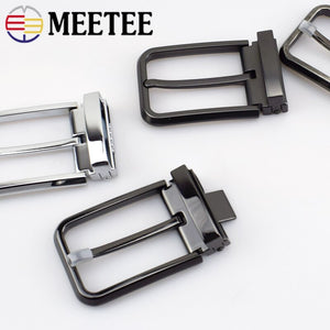 Meetee 1pc 35/40mm Mens Metal Pin Belt Buckles for Male Waistband Head DIY Leather Crafts Jeans Decor Hardware  Accessories