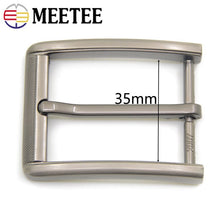 Load image into Gallery viewer, Meetee 35mm 2pcs Metal Belt Buckle Men Women Pin Buckles Waistband Head DIY Leather Craft Jeans Hardware Accessories YK311