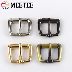 10/20pc Meetee 20mm/25mm Metal Pin Buckles Handbag Strap Belt Adjust Roller Ring Buckle DIY Hardware Bags Shoes Part Accessories