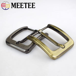2/10pcs Meetee 40mm Men Belt Buckles Brushed Metal Pin Buckle for 37-38mm Jeans Leather Replacement Garment Decor Accessories